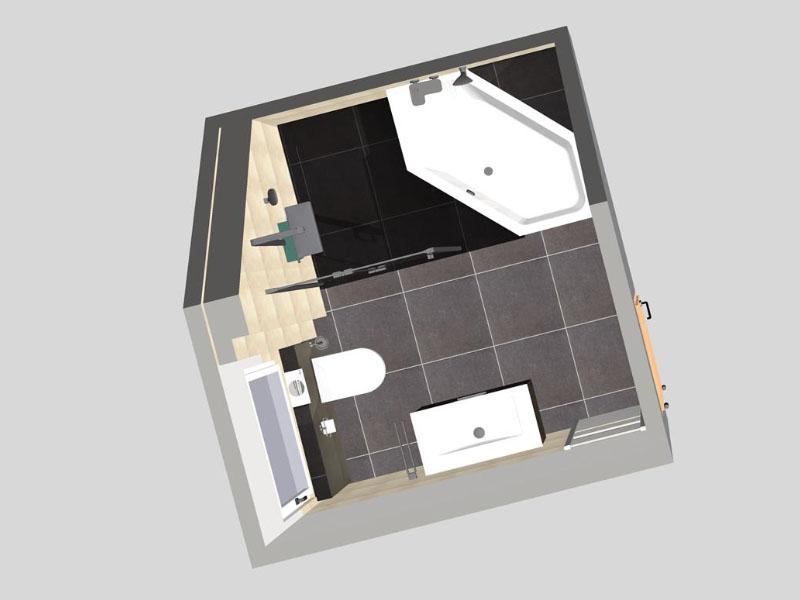 Sechseckwanne dachschräge  Bad 1 mit Dachschräge